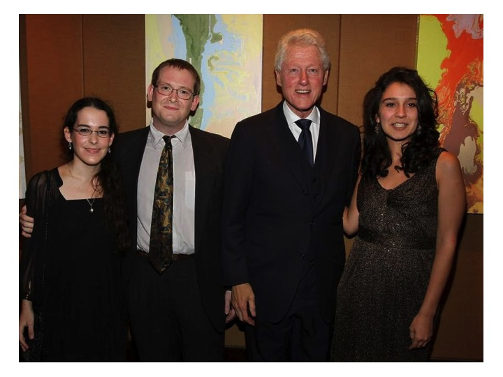 Clinton and 2012 Students